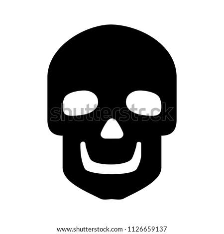 vector skull illustration. death sign symbol, danger logo