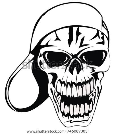 vector skull illustration with
