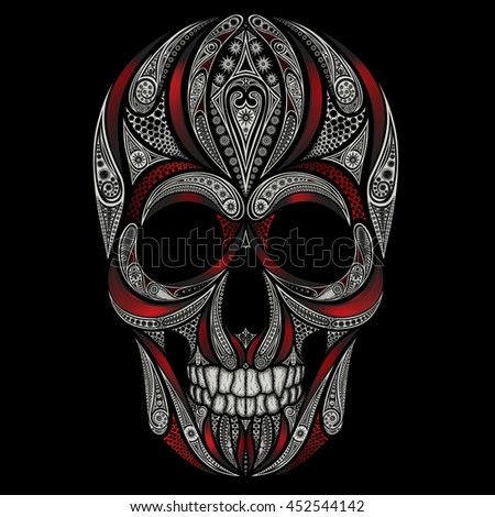 vector skull patterns and the