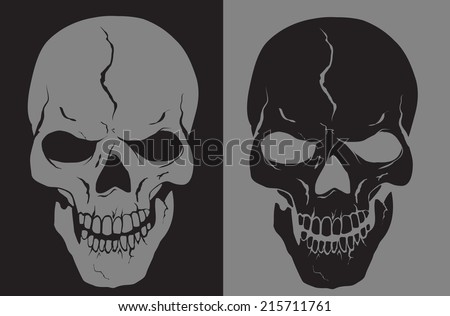 vector skull with layers eps 10