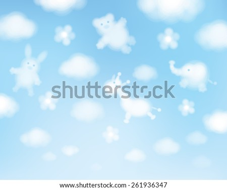 vector sky background  animals
