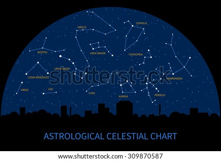 Sky Chart Free Download: Constellations Map - Download Free Vector Art Stock Graphics 6 Images,Chart