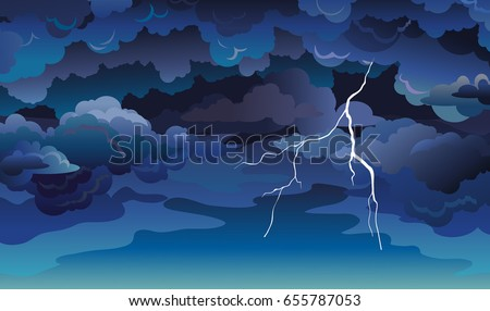 vector sky scape with blue