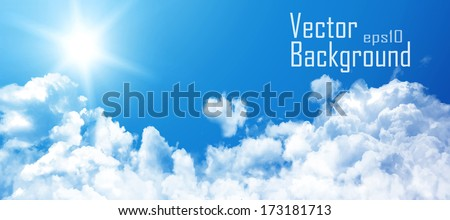 vector sky sky with clouds