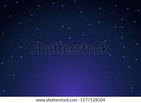 Vector sky star background night. Starry space universe wallpaper.