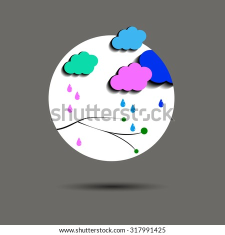 vector sky weather background climate nature rain storm