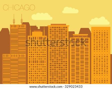 vector skyline of famous