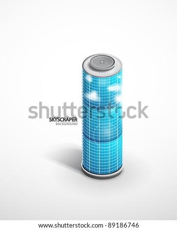Vector skyscraper background