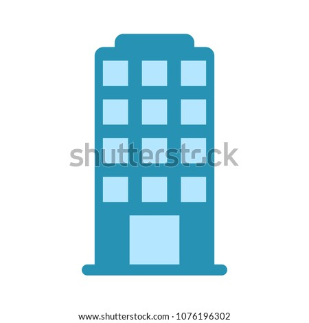 vector skyscraper building icon - office and apartment building illustration