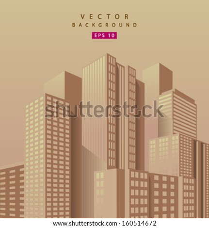 vector skyscraper orange