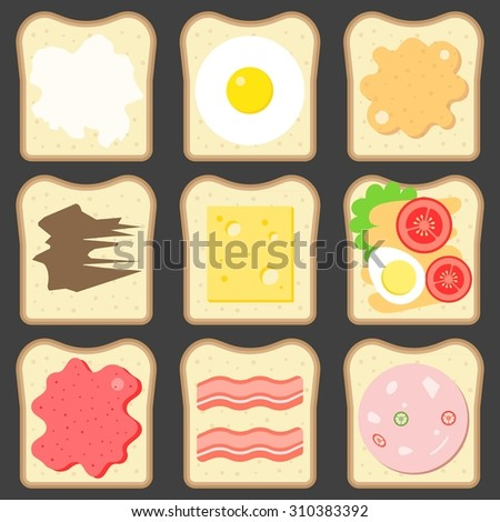 vector sliced bread with bread