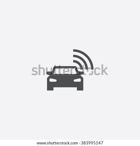 Vector smart car Icon