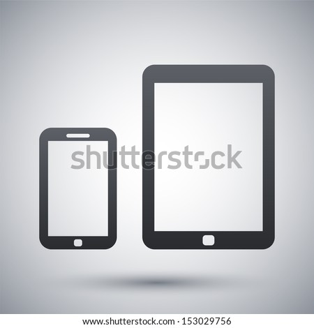 Vector smart phone and tablet icon
