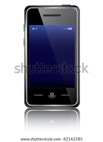 Vector smart phone isolated on the white background