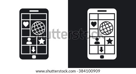 vector smart phone with tiled