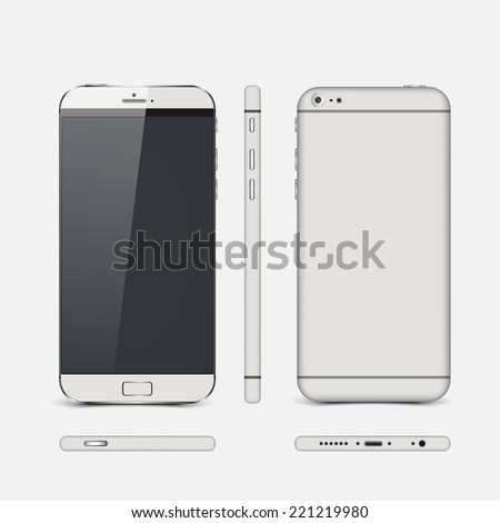 Vector smart phones isolated.