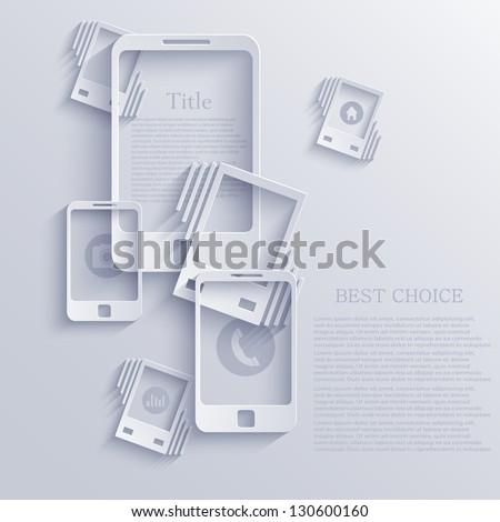 Vector smartphone icon background. Eps10