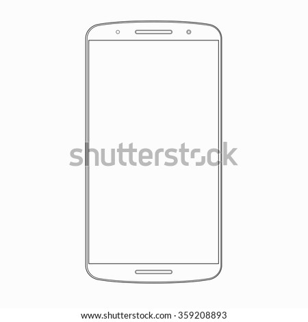 vector smartphone outline