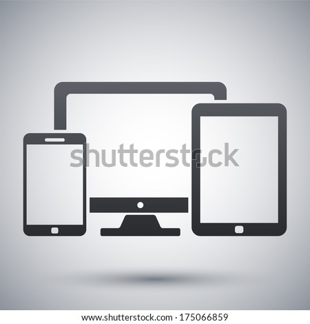 vector smartphone  tablet and...