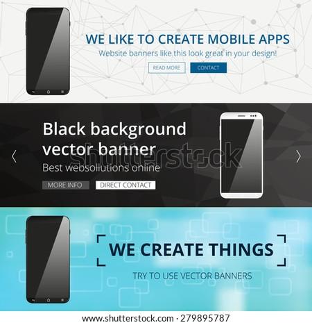 vector smartphone website