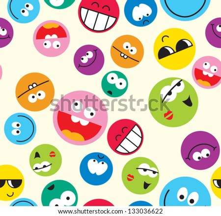 vector smile icon seamless