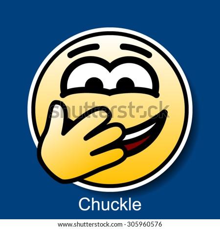 vector smiley chuckle