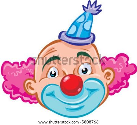 vector smiling clown illustration
