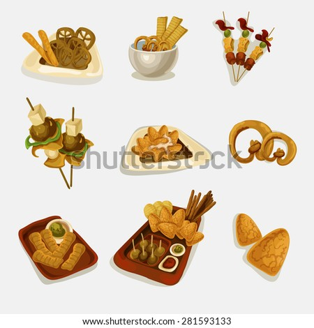 vector snack and finger food