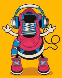 vector sneaker character design