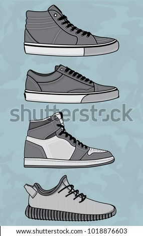 vector sneakers  vector eps 10