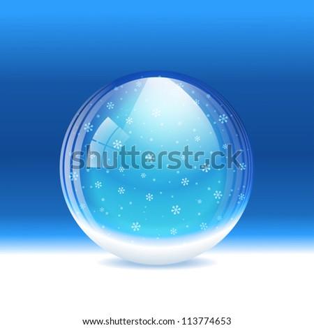 vector snow globe layered