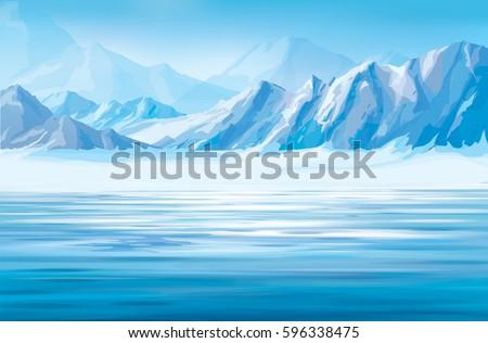 vector snow mountains