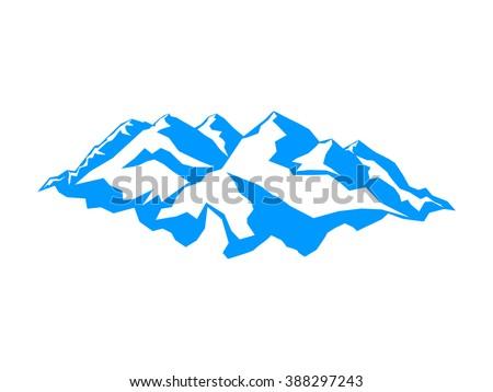 vector snow mountains peak logo