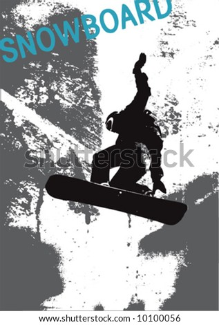 vector snowboard