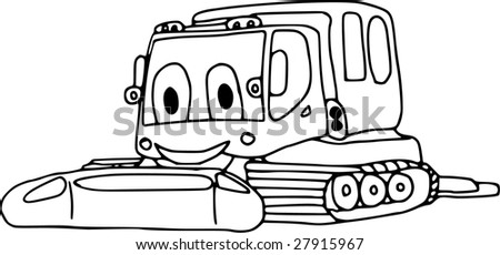 vector - snowcat isolated on background