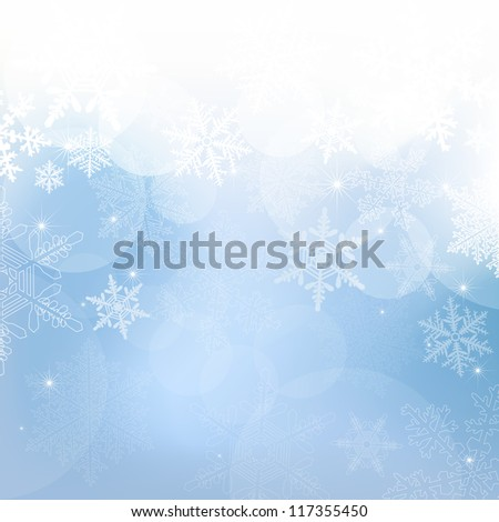 vector snowflake blue  background