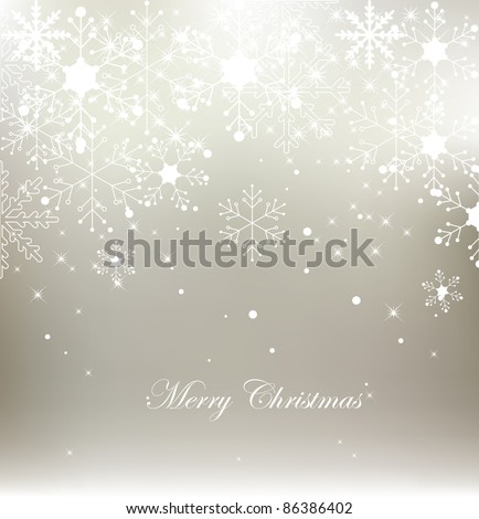 Vector snowflake christmas background - stock vector