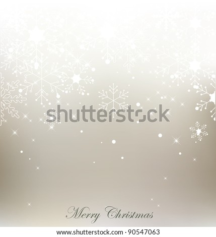Vector snowflake christmas background