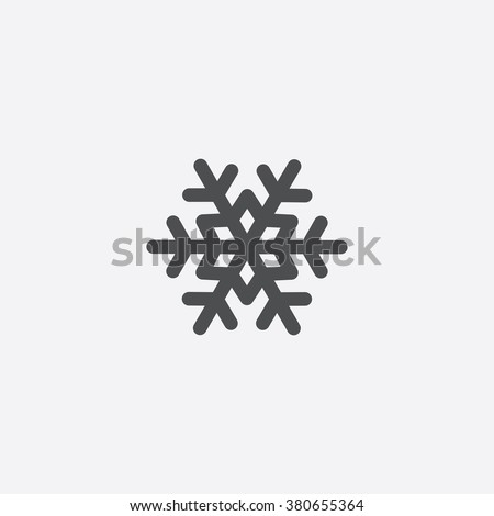 Vector snowflake Icon