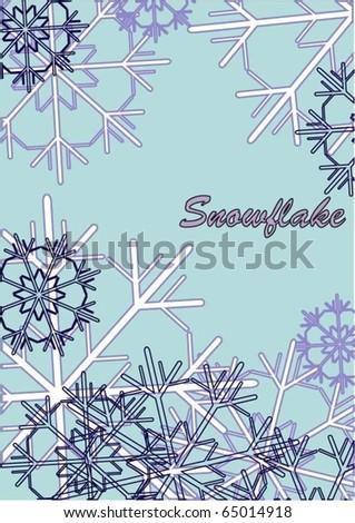 Vector snowflake winter