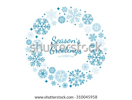 Vector Snowflake Wreath.