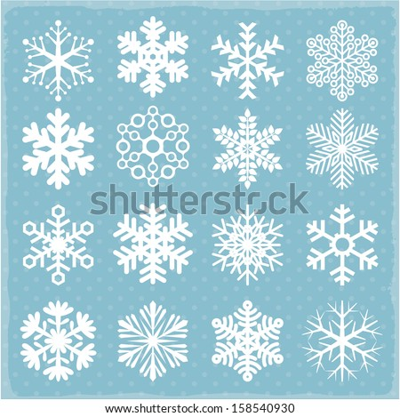 Shutterstock Vector snowflakes.