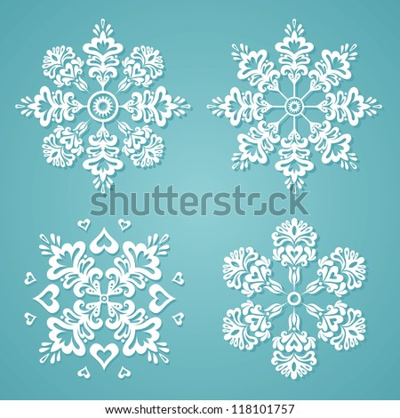 vector snowflakes for winter and christmas theme