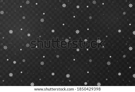 vector snowflakes snowfall
