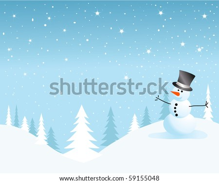 vector snowman card for christmas.