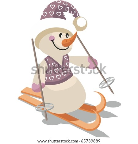 vector snowman in color 15