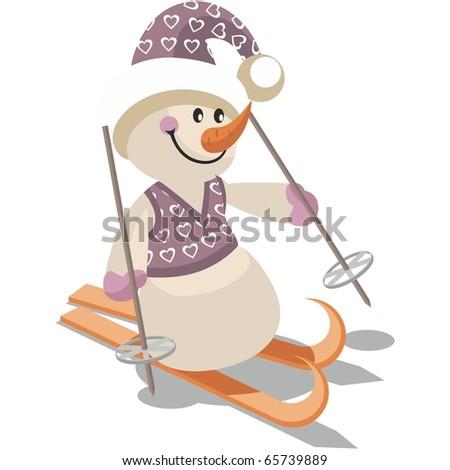vector snowman in color 15