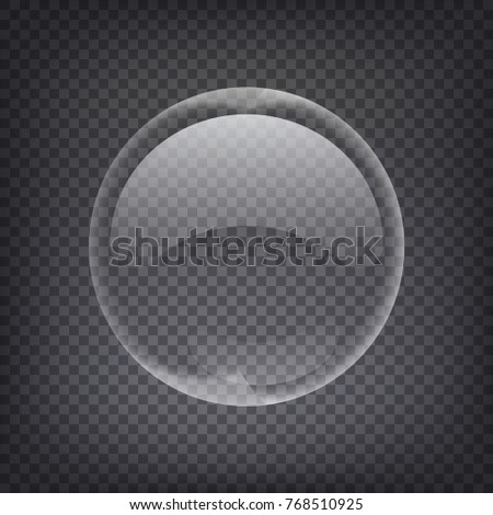 Vector Soap Water Bubbles. Transparent Isolated Realistic Design Elements. Can be used with any Background.