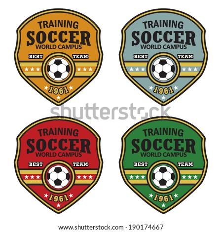vector soccer badge   vector