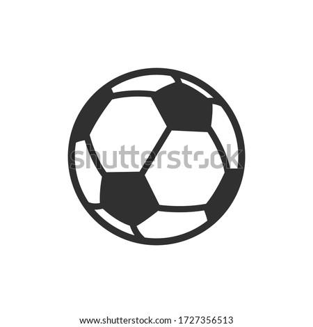 Vector Soccer ball on white background. European football logo. Football ball design. Vector illustration